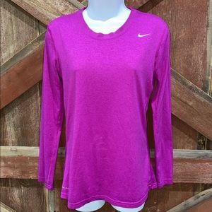 Nike Womens Dri-Fit Pullover Athletic Shirt Crewneck Size Small Purple!